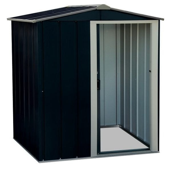Metal Shed Black - 5ft x 4ft Sapphire