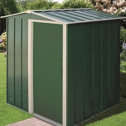 Metal Shed Black - 5ft x 4ft Sapphire - In Use