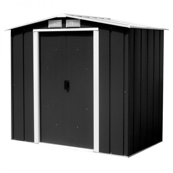 Metal Shed Black- 6ft x 4ft Sapphire - Product Image