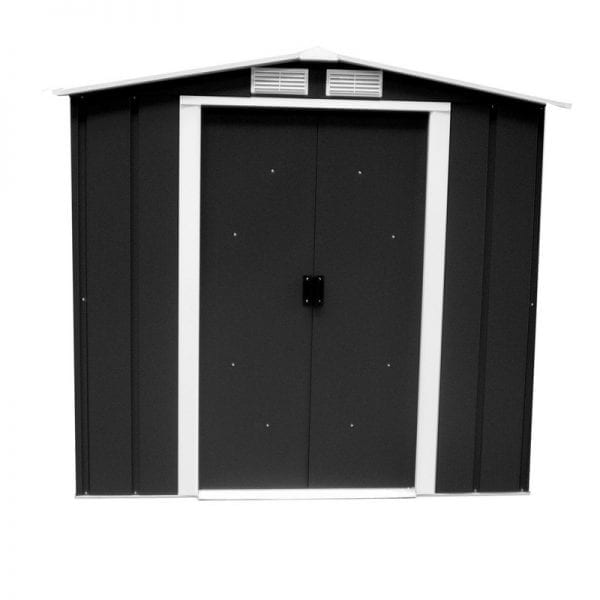 Metal Shed Black - 6ft x 6ft Sapphire - Doors Closed
