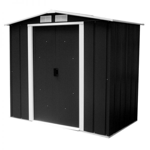 Metal Shed Black - 6ft x 6ft Sapphire - Product Image