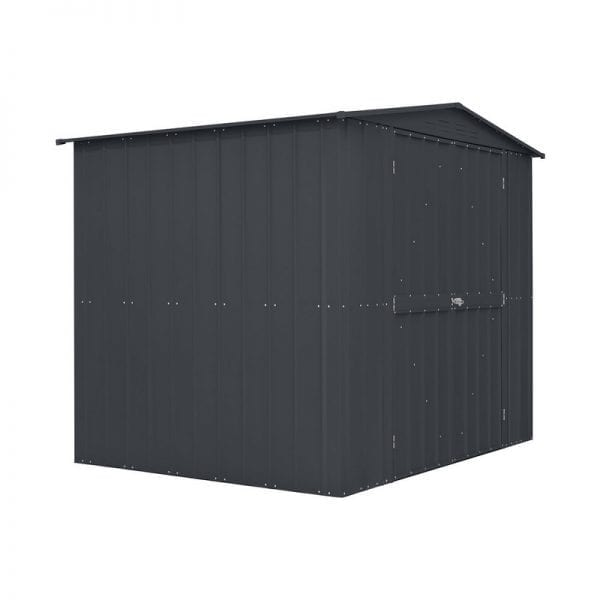 Metal Shed 8x6 - Double Door Black Lotus - Door Closed