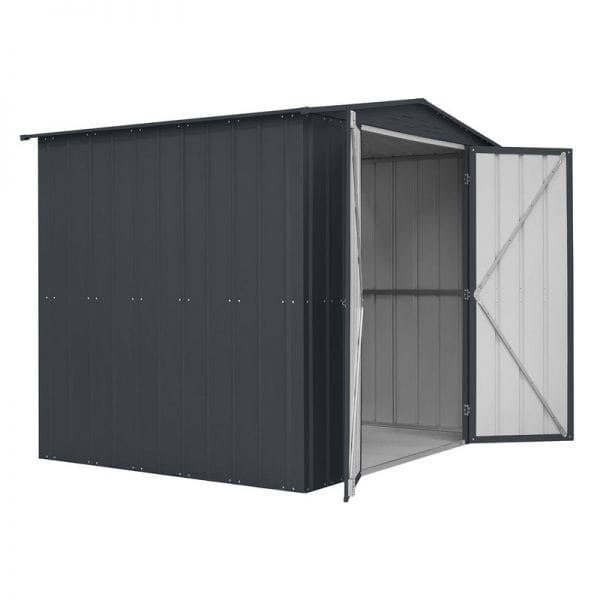 Metal Shed 8x6 - Double Door Black Lotus - Door Open