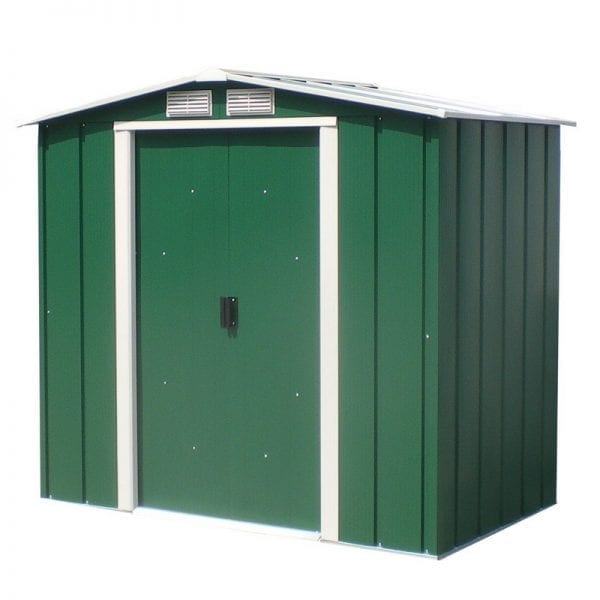 Metal Shed Green - 6ft x 6ft Sapphire - Product Image