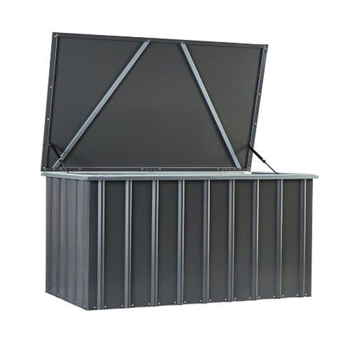 Metal Storage Box 5'x3' - Lotus anthracite grey - Front Open