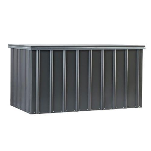 Metal Storage Box 5'x3' - Lotus Black - Front