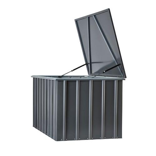 Metal Storage Box 5'x3' - Lotus Black - Side Open