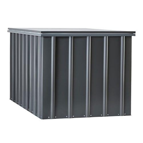 Metal Storage Box 5'x3' - Lotus Black - Side