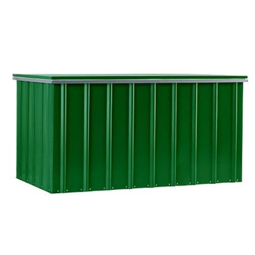 Metal Storage Box 5'x3' - Lotus Green - Front