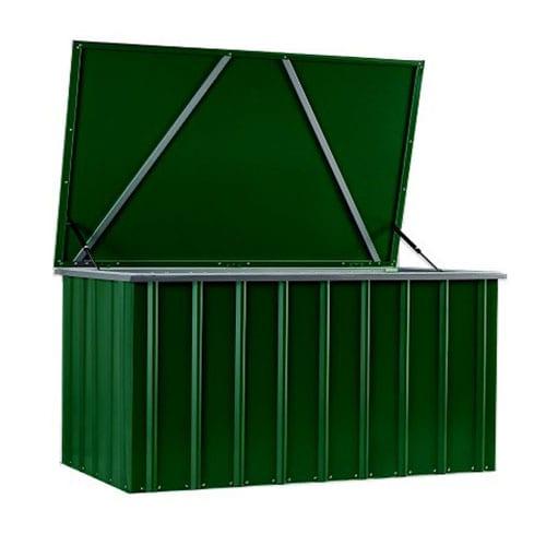 Metal Storage Box 5'x3' - Lotus Green - Open Front