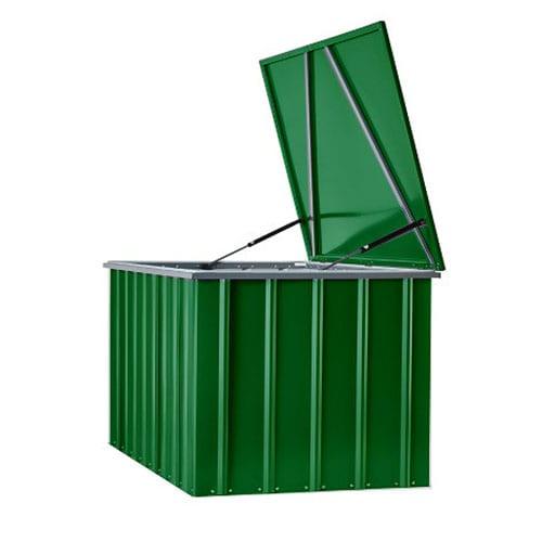 Metal Storage Box 5'x3' - Lotus Green - Open Side