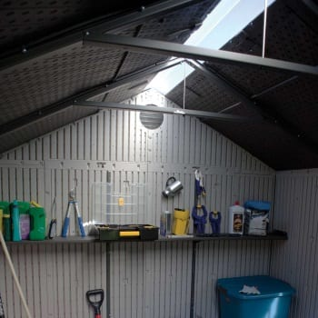Outdoor Storage Shed Lifetime 8ft - Roof Light & Shelves