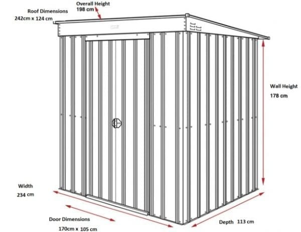 Pent 8x4 Shed