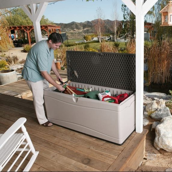 Plastic Outdoor Storage Box - Lifetime 500L - In Use4