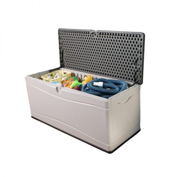 Plastic Outdoor Storage Box - Lifetime 500L - Product Image Open