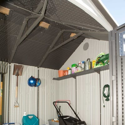 Plastic Outdoor Storage Shed Lifetime 10ft x 8ft - Filled