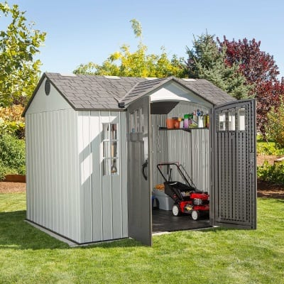 Plastic Outdoor Storage Shed Lifetime 10ft x 8ft - In Situ Open