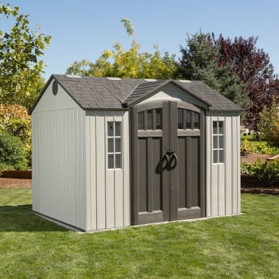 Plastic Outdoor Storage Shed Lifetime 10ft x 8ft - In Situ