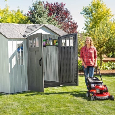 Plastic Outdoor Storage Shed Lifetime 10ft x 8ft - In Use