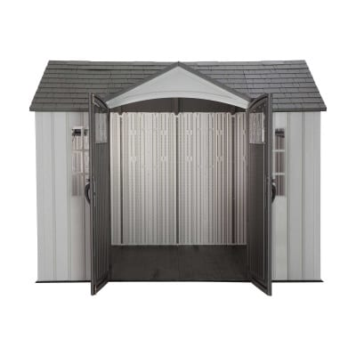 Plastic Outdoor Storage Shed Lifetime 10ft x 8ft - Open Straight On