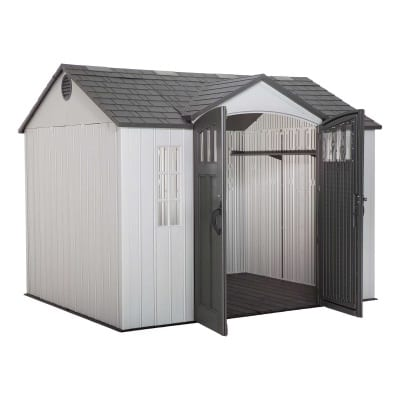 Plastic Outdoor Storage Shed Lifetime 10ft x 8ft - Open