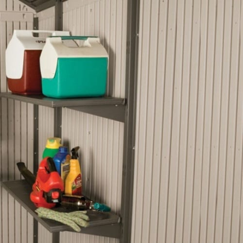 Plastic Outdoor Storage Shed Lifetime 11ft - 2 Included Shelves