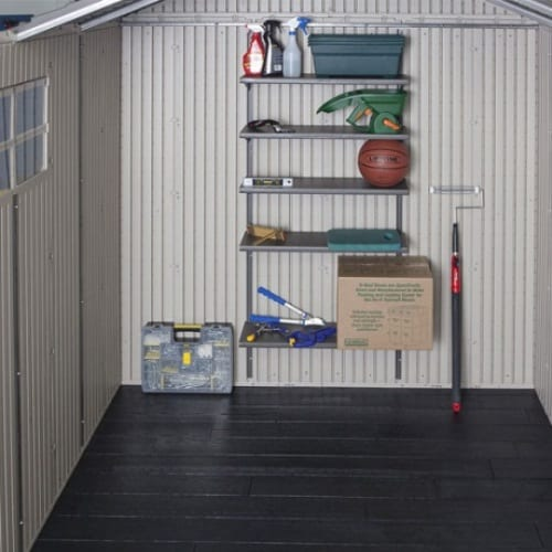 Plastic Outdoor Storage Shed Lifetime 11ft - 5 Included Shelves