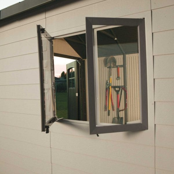 Plastic Outdoor Storage Shed Lifetime 11ft - Window