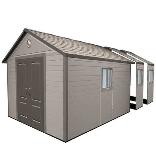 Plastic Outdoor Storage Shed - Lifetime 11ft x21ft - Product Picture