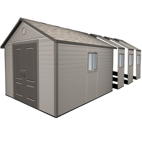 Plastic Outdoor Storage Shed - Lifetime 11ft x26ft - Product Picture