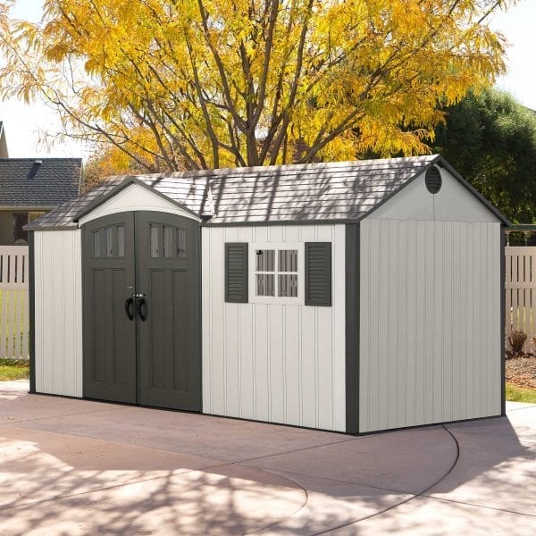 Plastic Outdoor Storage Shed Lifetime 12.5ft x 8ft - In Situ
