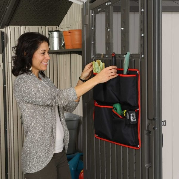 Plastic Outdoor Storage Shed Lifetime 12.5ft x 8ft - Tool Bag