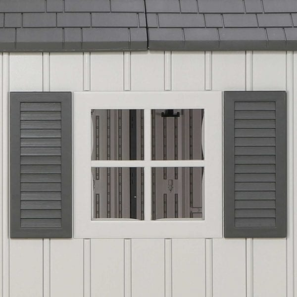 Plastic Outdoor Storage Shed Lifetime 12.5ft x 8ft - Windows