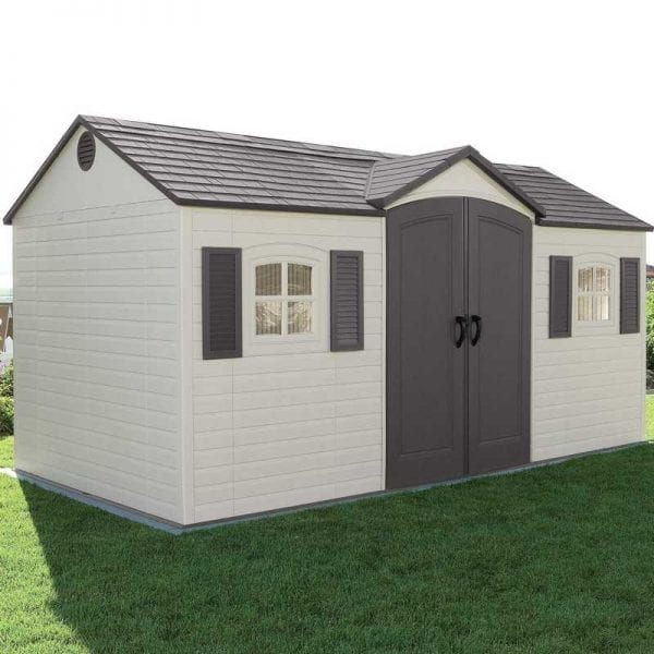 Plastic Outdoor Storage Shed Lifetime 15ft x 8ft - In Situ