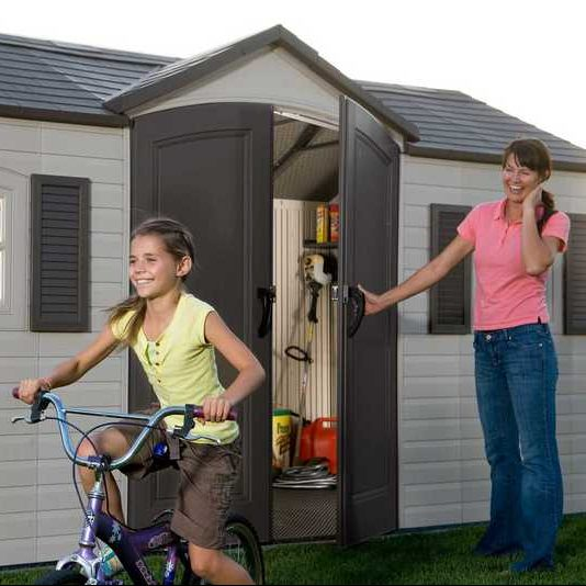 Plastic Outdoor Storage Shed Lifetime 15ft x 8ft - In Use