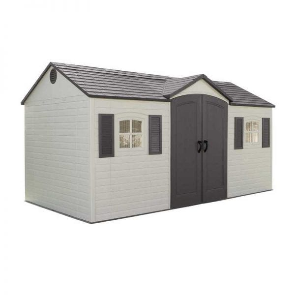 Plastic Outdoor Storage Shed Lifetime 15ft x 8ft - Product Image