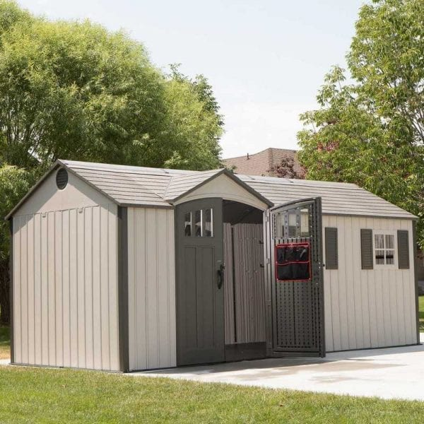Plastic Outdoor Storage Shed Lifetime 17.5ft x 8ft - In Situ