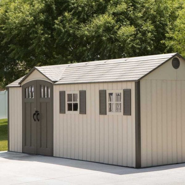 Plastic Outdoor Storage Shed Lifetime 17.5ft x 8ft - In Situ1