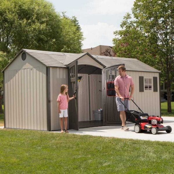 Plastic Outdoor Storage Shed Lifetime 17.5ft x 8ft - In Use