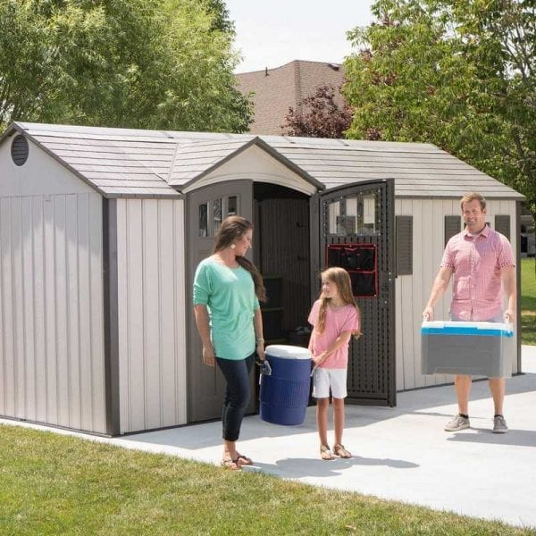 Plastic Outdoor Storage Shed Lifetime 17.5ft x 8ft - In Use1