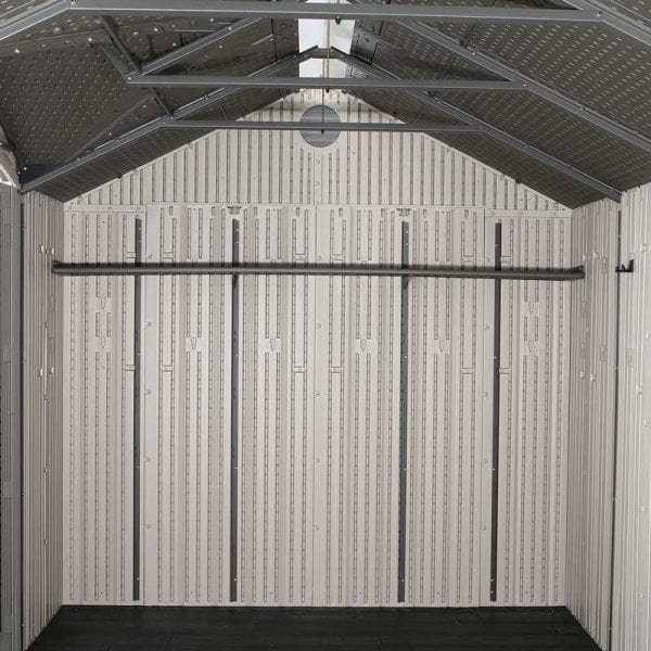 Plastic Outdoor Storage Shed Lifetime 17.5ft x 8ft - Inside