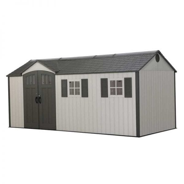Plastic Outdoor Storage Shed Lifetime 17.5ft x 8ft - Product Image