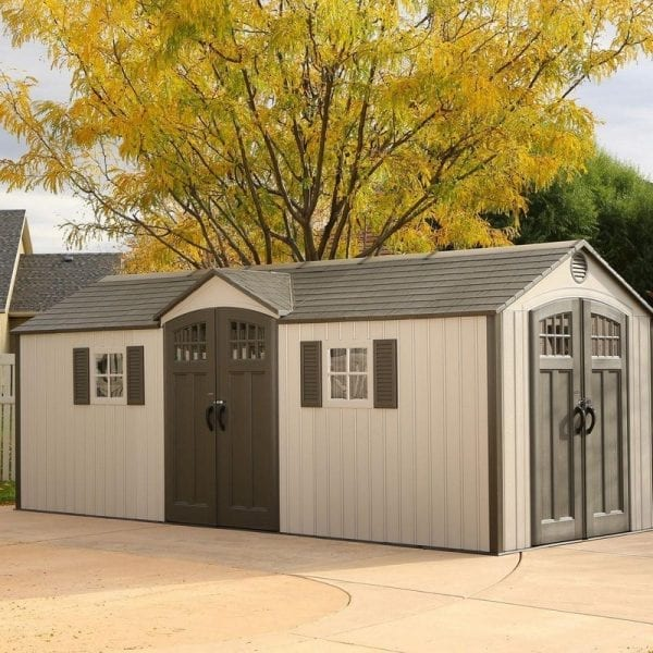 Plastic Outdoor Storage Shed Lifetime 20ft x 8ft - In Situ