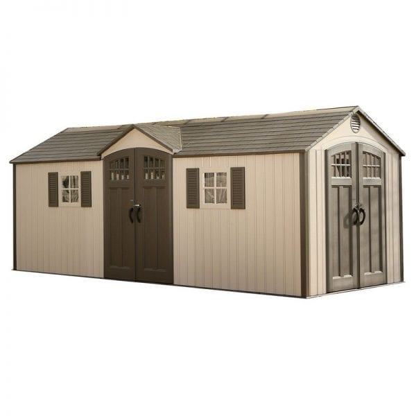 Plastic Outdoor Storage Shed Lifetime 20ft x 8ft - Product Image