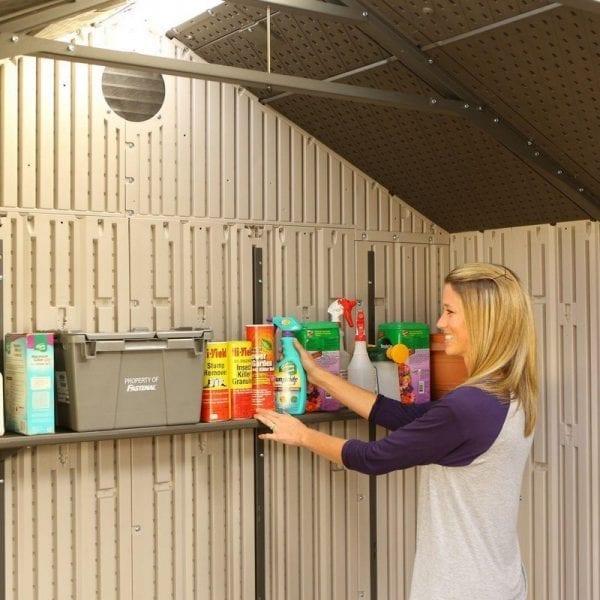 Plastic Outdoor Storage Shed Lifetime 20ft x 8ft - Shelves