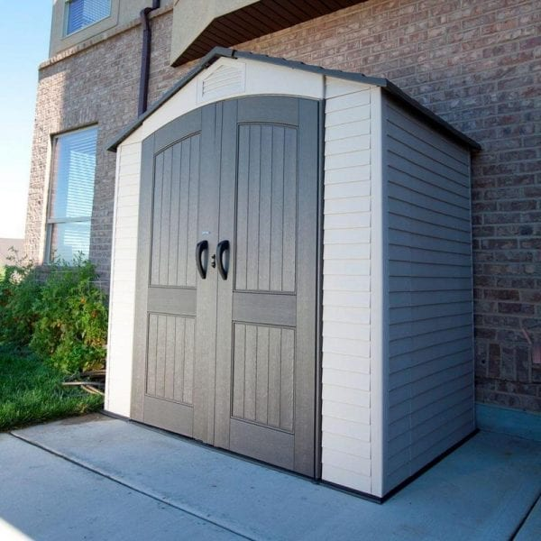 Plastic Outdoor Storage Shed Lifetime 7ft x 4.5ft - In Situ