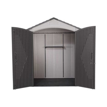 Plastic Outdoor Storage Shed Lifetime 7ft x 4.5ft - Product Image Open