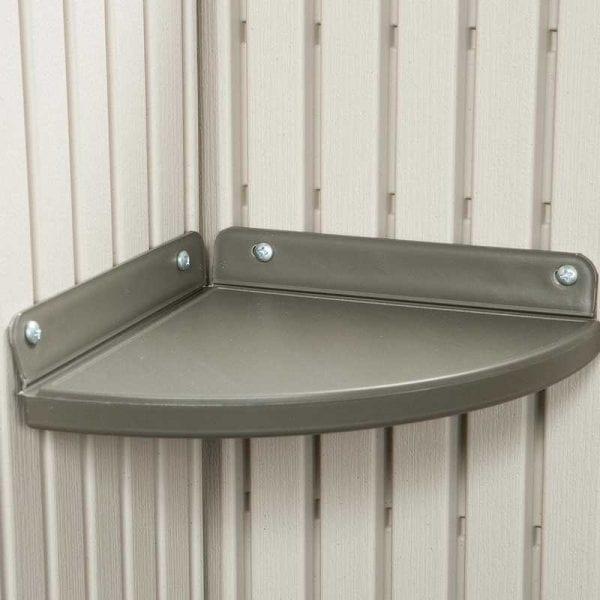 Plastic Outdoor Storage Shed Lifetime 8ft x 5ft - Corner Shelf