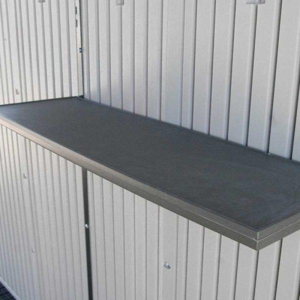 Plastic Outdoor Storage Shed Lifetime 8ft x 5ft - Shelf