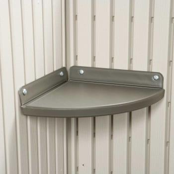 Plastic Outdoor Storage Shed Lifetime 8ft x 7.5ft - Corner Shelf